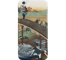 Vintage famous art - Hokusai Katsushika - Autumn Maple Leaves On The Tsutaya River iPhone Case/Skin