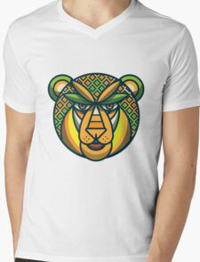 Lion Vector Mens V-Neck T-Shirt