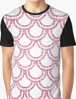 Knitted Fish Scales Pink Graphic T-Shirt