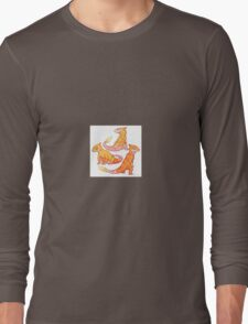 Realistic charmander pokemon Long Sleeve T-Shirt