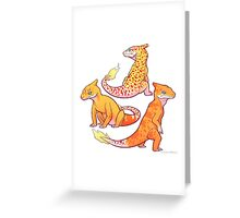 Realistic charmander pokemon Greeting Card