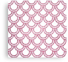 Knitted Fish Scales Pink Canvas Print