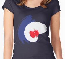 Worn roundel Women's Fitted Scoop T-Shirt