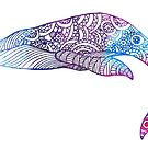 Whale patterns in watercolour by jem16