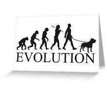 EVOLUTION pitbull Greeting Card