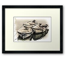 Three Little Boats - Cornwall Framed Print