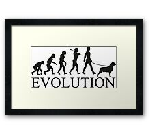 EVOLUTION rottweiler Framed Print