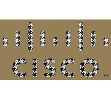 CISCO LOGO HOUNDSTOOTH 2 Photographic Print