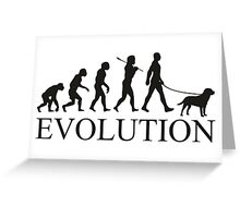 EVOLUTION labrador Greeting Card