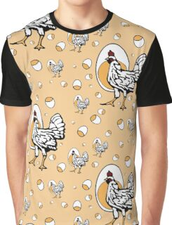 Retro Roseanne Chickens Graphic T-Shirt