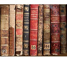 Antique Library Books Photographic Print
