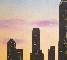 Sunset over the city 2 Sticker