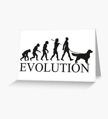 EVOLUTION golden retriver Greeting Card