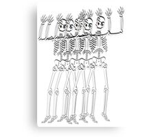Spooky scary skeleton Canvas Print