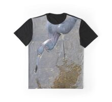 Tri Colored Heron Graphic T-Shirt