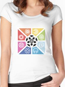 TrianglesSymbolsEC Women's Fitted Scoop T-Shirt