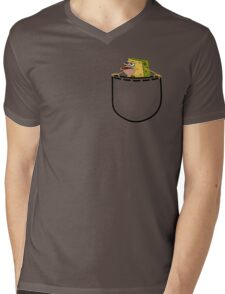 Caveman Spongebob (SpongeGar) Pocket Shirt Mens V-Neck T-Shirt
