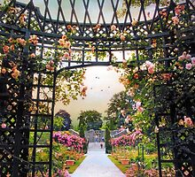 Rose Garden Gazebo by Jessica Jenney
