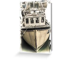 Yellow Fishing Boat - Cornwall Greeting Card