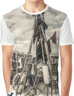 Flags on a Boat - Cornwall Graphic T-Shirt