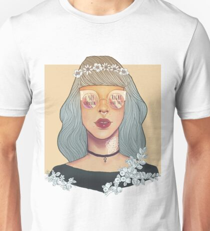 I see right through your sh♥t Unisex T-Shirt