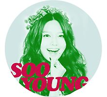 Girls' Generation Sooyoung Love & Peace  Photographic Print