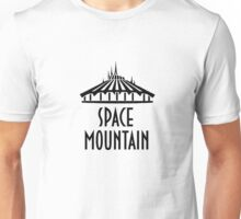 SpaceMountainWhiteOutline Unisex T-Shirt