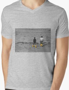Little boys with their wellies Mens V-Neck T-Shirt