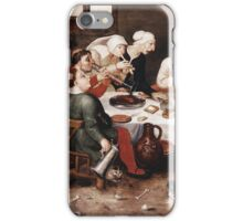 Vintage famous art - Hieronymus Bosch - The Bacchus Singers 1580 iPhone Case/Skin