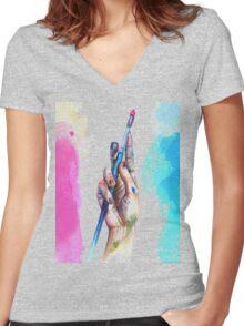 Painter's Hand Women's Fitted V-Neck T-Shirt