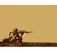 Army Soldier  Photographic Print