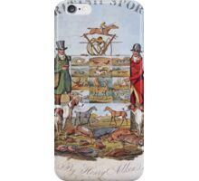 Vintage famous art - Henry Alken - The National Sports Of Great Britain iPhone Case/Skin