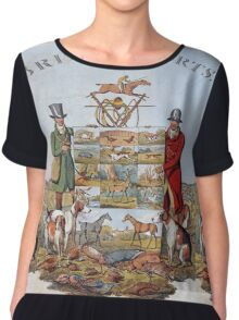 Vintage famous art - Henry Alken - The National Sports Of Great Britain Chiffon Top