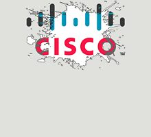 Cisco Logo White Black Glow T-Shirt