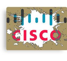 Cisco Logo White Black Glow Canvas Print