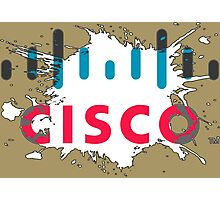 Cisco Logo White Black Glow Photographic Print