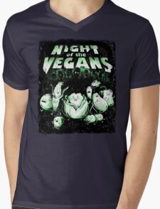 Night of the Vegans Mens V-Neck T-Shirt