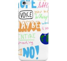 Hope is the little voice... iPhone Case/Skin