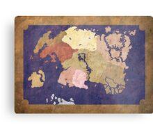 Elders scrolls simple map Metal Print