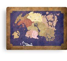Elders scrolls simple map Canvas Print