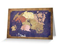 Elders scrolls simple map Greeting Card