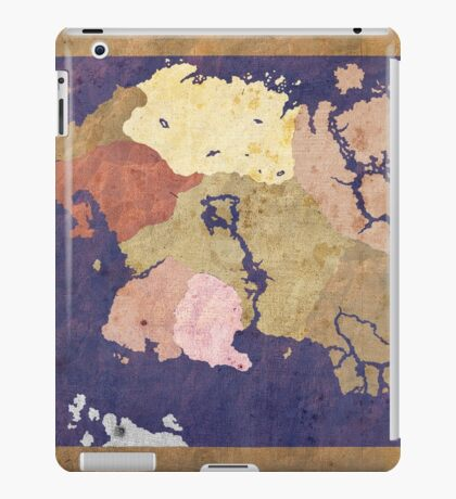 Elders scrolls simple map iPad Case/Skin