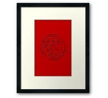 Human transmutation circle - charcoal Framed Print