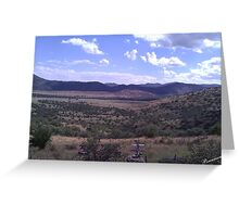 West Texas View Greeting Card