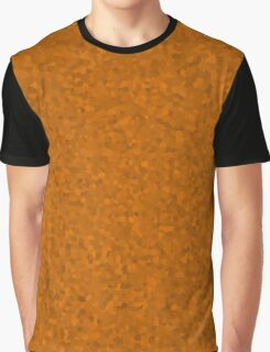 Orange Flame Cell Camo Graphic T-Shirt