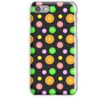 Orange, lemon, lime and grapefruit summer party pattern iPhone Case/Skin