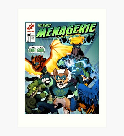 The Mighty Menagerie Art Print