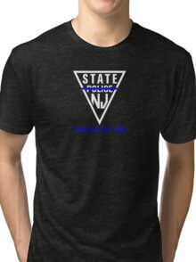 New Jersey State Police - Thin Blue Line Tri-blend T-Shirt
