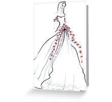 Bride & Roses Greeting Card