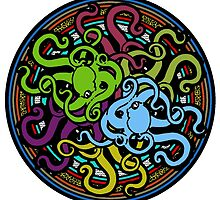 Octopus Mandala - Ocean Tentacles of Madness by BagChemistry